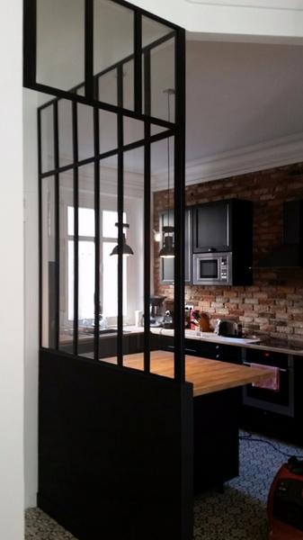 cuisine vitre atelier atelier castorama sur dacoration intarieure avec cuisine cloison vitrae. Black Bedroom Furniture Sets. Home Design Ideas