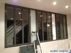 Menuiserie aluminium TECHNAL style atelier d'artiste.