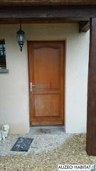 Porte d'entrée PVC coloris chene dorée