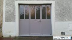 Remplacement d'une porte de garage par une porte fenêtre composée en acier JANSEN à double rupture de pont thermique