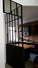 Verrière, verrière d'intérieur, verrière atelier d'artiste, cloison vitrée