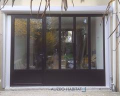 menuiserie en aluminium style atelier, coloris noir 9005 mat