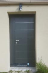 Renovation porte d'entrée bois en porte d'entre aluminium KLINE