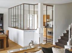 Verrière, verrière d'intérieur, verrière atelier d'artiste, cloison vitrée, cloison vitrée cuisine