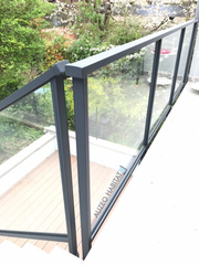 Garde corps aluminium et vitre CADIOU modèle EVY gris anthracite RAL 7016. Réalisation 92